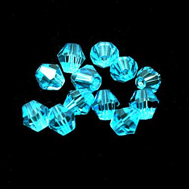 beadia 100pcs vidro facetado contas de cristal de diamante 6 milímetros bicone forma cor turquesa espaçador diy pérolas soltas
