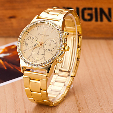 Mulheres Relógio de Moda Quartzo suíço Designer Lega Banda Dourada Dourado