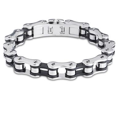 Heren Armbanden met ketting en sluiting Punk-stijl Modieus PERSGepersonaliseerd Roestvast staal Sieraden Fietsen Sieraden VoorCausaal