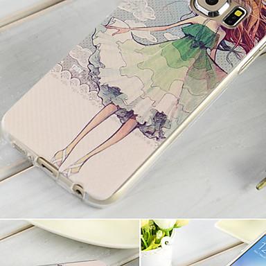 Voor Samsung Galaxy hoesje Hoesje cover Reliëfopdruk Achterkantje hoesje Cartoon TPU voor Samsung S6