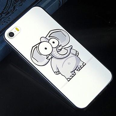 cinza elefante dos desenhos animados padrão de padrão de design de volta cobrir caso difícil de proteção para iphone 5c