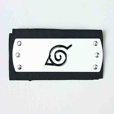 Jóias Peça para Cabeça Inspirado por Naruto Naruto Uzumaki Anime Acessórios para Cosplay Peça para Cabeça Terylene Liga Masculino