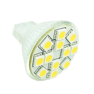 1.5W GU4(MR11) Lâmpadas de Foco de LED MR11 12 leds SMD 5050 Regulável Decorativa Branco Quente Branco Frio Branco Natural 3500/6000/6500