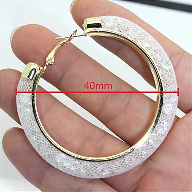 Γυναικεία Κρίκοι Πολύχρωμα Στρας Προσομειωμένο διαμάντι Κράμα Circle Shape Stea Κοσμήματα Πάρτι Καθημερινά Causal