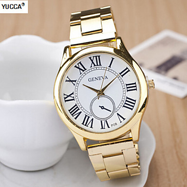 Mulheres Relógio de Moda Quartzo suíço Designer Lega Banda Dourada
