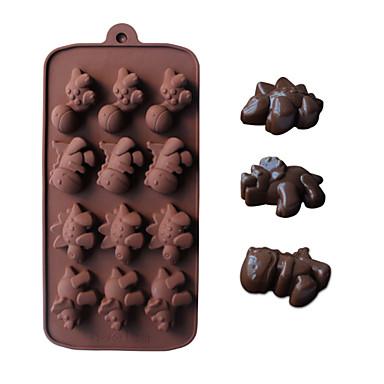 dinossauro em forma de moldes de cozimento gelo / chocolate / molde do bolo