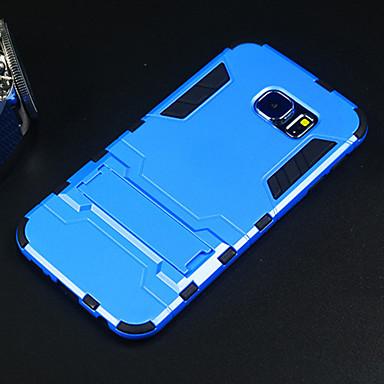 maçã capa dura case protetor com kickstand para Samsung Galaxy S6