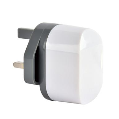 ce gecertificeerd dual usb lader, uk plug, 5v 2.4a-uitgang, voor de iPhone 5 iPhone 6 / plus, ipad lucht, ipad mini, ipad4