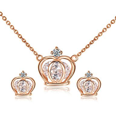 Γυναικεία Κρυστάλλινο Κοσμήματα Σετ - Κρύσταλλο, Cubic Zirconia Coroană Περιλαμβάνω Για Γάμου / Πάρτι / Καθημερινά / Cercei / Κολιέ