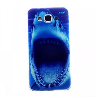 padrão tubarão caso slim telefone TPU para Samsung Galaxy e5