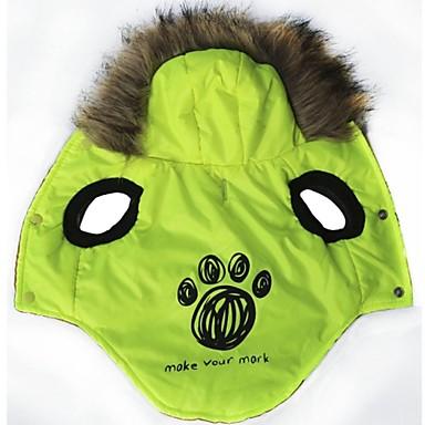Γάτα Σκύλος Παλτά Φούτερ με Κουκούλα Ρούχα για σκύλους Μοντέρνα Γράμμα & Αριθμός Πράσινο Στολές Για κατοικίδια