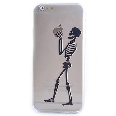 novo padrão 黑色 骷髅 moda dos desenhos animados 3d TPU caso de telefone macio para iphone 5 / 5s