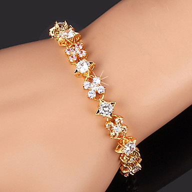 Dames Kubieke Zirkonia Verguld Tennis Armbanden - Goud Zilver Armbanden Voor Kerstcadeaus Bruiloft Feest Dagelijks Causaal Sport