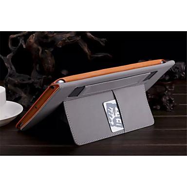 hoesje Voor iPad Air Kaarthouder met standaard Automatisch aan / uit Volledig hoesje Effen Kleur PU-nahka voor iPad Air