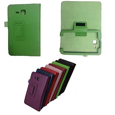Capinha Para Samsung Galaxy Samsung Galaxy Capinhas Com Suporte Flip Capa Proteção Completa Côr Sólida PU Leather para Tab 3 Lite