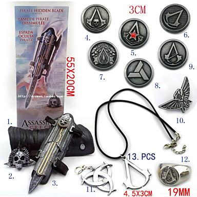 Κοσμήματα Έμβλημα Εμπνευσμένη από Δολοφόνος Ezio Anime/ Βιντεοπαιχνίδια Αξεσουάρ για Στολές Ηρώων Κολιέ Γάντια Έμβλημα Καρφίτσα Κράμα
