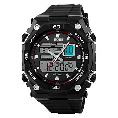 Homens Relógio de Pulso Relógio Esportivo Quartzo Quartzo Japonês Alarme Calendário Cronógrafo Impermeável Relógio Esportivo Dois Fusos