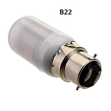 B22 E26/E27 Lâmpadas Espiga 24 SMD 5050 950 lm Branco Quente 3500K K AC 85-265 V