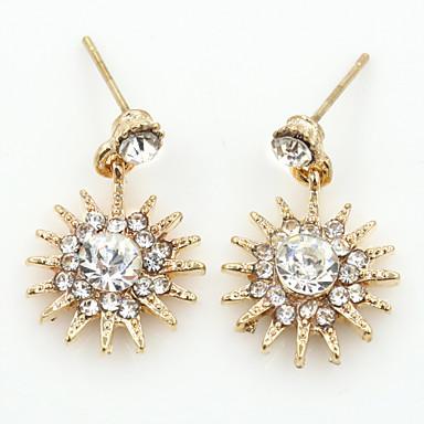 Brincos Curtos Cristal Moda Europeu Strass Chapeado Dourado 18K ouro imitação de diamante Áustria Cristal Dourado Prata Ouro Rose Jóias
