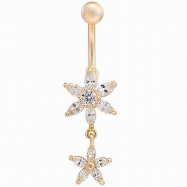 Dames / Heren Navel & Bell Button Rings Zirkonia / Koper / Verguld Wit / Paars / Roze Sieraden,1pc