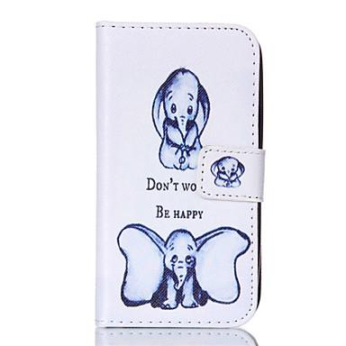 Για Samsung Galaxy Θήκη Πορτοφόλι / Θήκη καρτών / με βάση στήριξης / Ανοιγόμενη tok Πλήρης κάλυψη tok Ελέφαντας Συνθετικό δέρμα Samsung