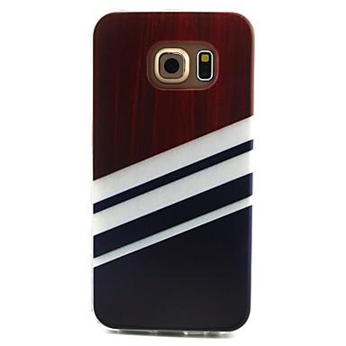 Недорогие Чехлы и кейсы для Galaxy S3 Mini-Кейс для Назначение SSamsung Galaxy S6 edge / S6 / S5 Mini С узором Кейс на заднюю панель Полосы / волосы ТПУ