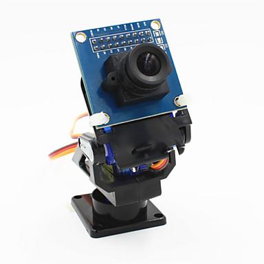 2-άξονα της κεφαλής λίκνο της κάμερας FPV + ov7670 σύνολο της κάμερας για το ρομπότ / r / c αυτοκινήτου - μαύρο + μπλε