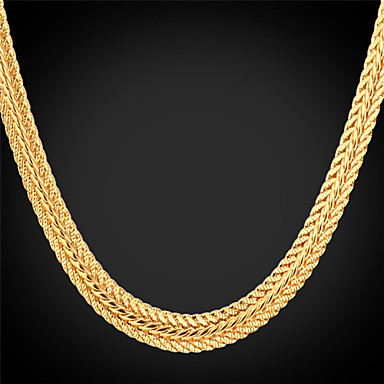 Жен. Позолота Ожерелья-бархатки Ожерелья-цепочки - Мода Ожерелье Назначение Свадьба Для вечеринок Повседневные