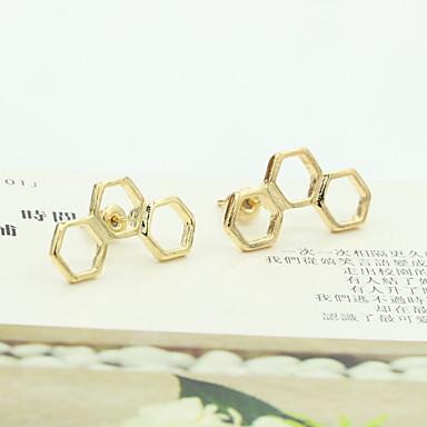 Γυναικεία Κρυστάλλινο Κουμπωτά Σκουλαρίκια - Στρας, Επιχρυσωμένο, Αυστριακό κρύσταλλο
