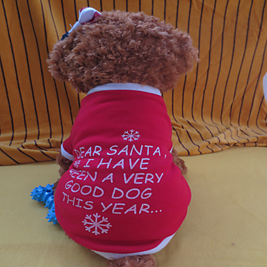 Winter - Rood Gemengd Materiaal - T-shirt - voor honden - XS / S / M / L