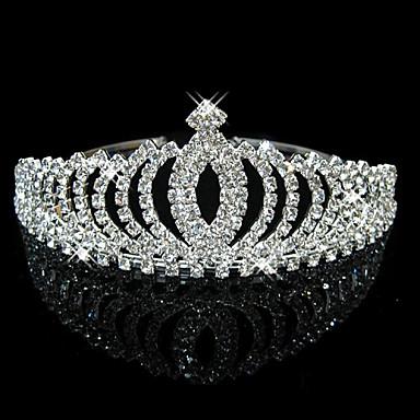 Κρύσταλλο Στρας Τιάρες Καλύμματα Κεφαλής with Φλοράλ 1pc Γάμου Ειδική Περίσταση Headpiece