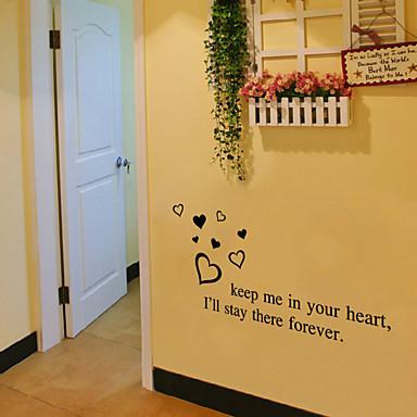 αυτοκόλλητα τοίχου αυτοκόλλητα τοίχου αγάπη στυλ αγγλικές λέξεις& αναφέρει αυτοκόλλητα PVC τοίχο