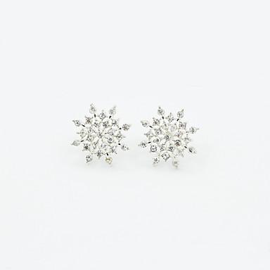 Σκουλαρίκι Κουμπωτά Σκουλαρίκια Κοσμήματα 1pc Γάμου / Καθημερινά Κρύσταλλο / Κράμα / Στρας Γυναικεία Χρυσαφί / Ασημί