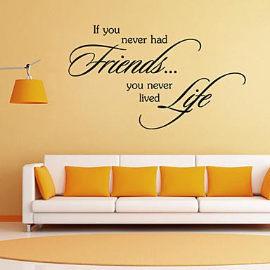 muurstickers muur stickers stijl vrienden engels woorden&citeert pvc muurstickers