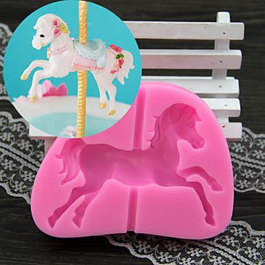 een carrousel fondant cake chocolade siliconen schimmel, decoratie gereedschap bakvormen