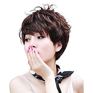 cor da mistura sem tampa peruca extra de alta qualidade natural curto cabelo encaracolado sintéticas com estrondo lado