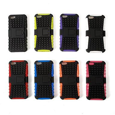2-in-1 design koffer met siliconen binnenkant met standaard dekking voor iphone5c (assorti kleur)