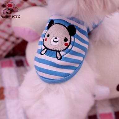 Gato Cachorro Camiseta Roupas para Cães Fantasias Casamento Riscas Animal Azul Ocasiões Especiais Para animais de estimação