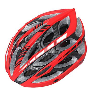 Capacete ( Branco/Vermelho/Preto , EPS + EPU ) - Montanha/Estrada - Unisexo 24 AberturasCiclismo/Ciclismo de Montanha/Ciclismo de