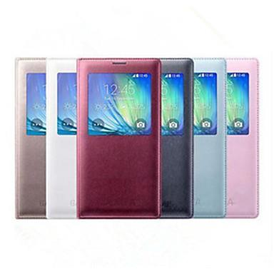 Capinha Para Samsung Galaxy Samsung Galaxy Capinhas com Visor Flip Capa Proteção Completa Côr Sólida PU Leather para A8 A7 A5 A3