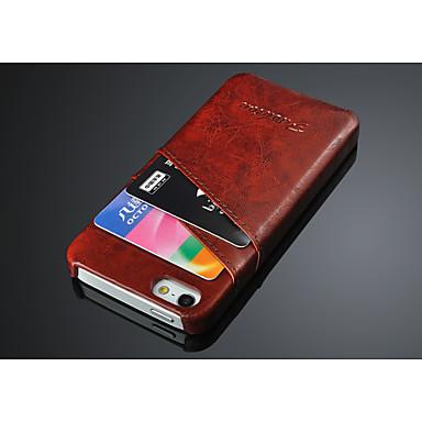 Para Capinha iPhone 6 Porta-Cartão Capinha Capa Traseira Capinha Cor Única Rígida Couro PU iPhone 6s/6