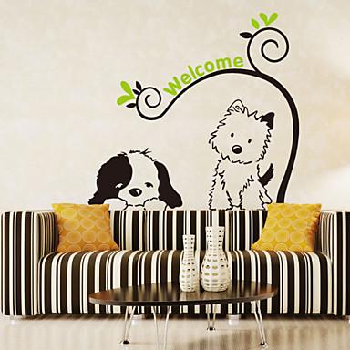 Dieren Romantiek Mode Bloemen Cartoon Muurstickers Vliegtuig Muurstickers Decoratieve Muurstickers, PVC Huisdecoratie Muursticker Wand