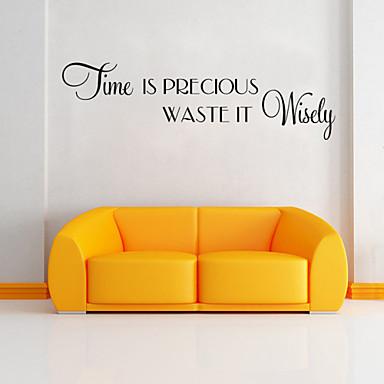 muurstickers muur stickers stijl tijd engels woorden&citeert pvc muurstickers