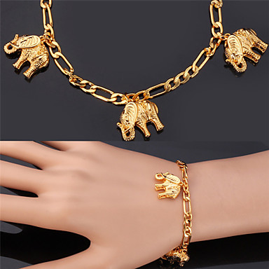 Women's Charm Bracelet / Bracelet - Gold Plated Elephant, Animal Fashion Bracelet Golden For Christmas Gifts / Wedding / Party