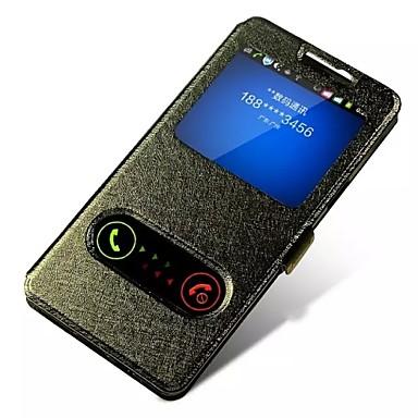 Para Samsung Galaxy Capinhas Com Suporte / com Visor / Flip / Magnética Capinha Corpo Inteiro Capinha Cor Única Couro PU Samsung A7