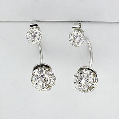 Oorknopjes Kristal Modieus Europees Strass Verguld imitatie Diamond Oostenrijk Crystal 18K goud Zilver Sieraden Voor 2 stuks