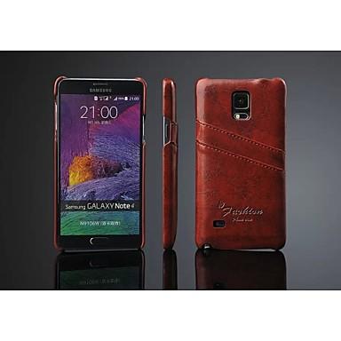 Για Samsung Galaxy Note Θήκη καρτών tok Πίσω Κάλυμμα tok Μονόχρωμη Συνθετικό δέρμα Samsung Note 4