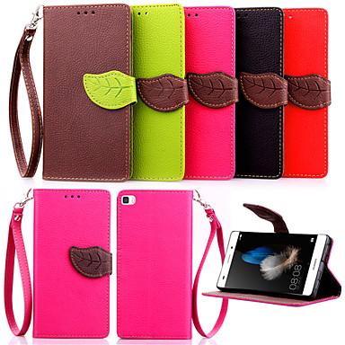 hoge kwaliteit portemonnee kaarthouder pu lederen flip case hoes voor Huawei p8 lite / p8 / G6 / G7 / Y550 (verschillende kleuren)