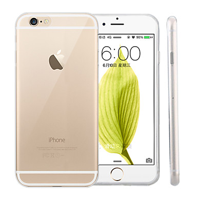 Case For Apple iPhone 6 iPhone 6 Plus Ultra-thin Transparent Back Cover Solid Color Soft Silicone for iPhone 6s Plus iPhone 6s iPhone 6