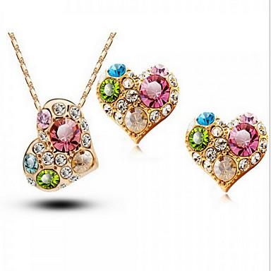 Dames Sieraden Set Kristal Schattig Feest Werk Liefde Modieus Bruiloft Feest Speciale gelegenheden  Verjaardag Verloving Kubieke Zirkonia